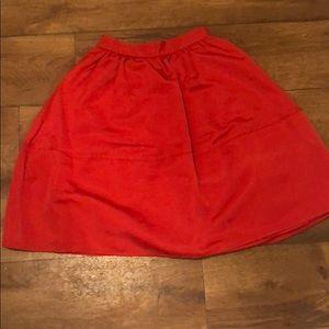 A-line knee length skirt. Express. Size 0
